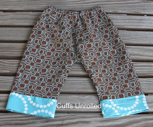 Newborn Pants - Cuffs Unrolled