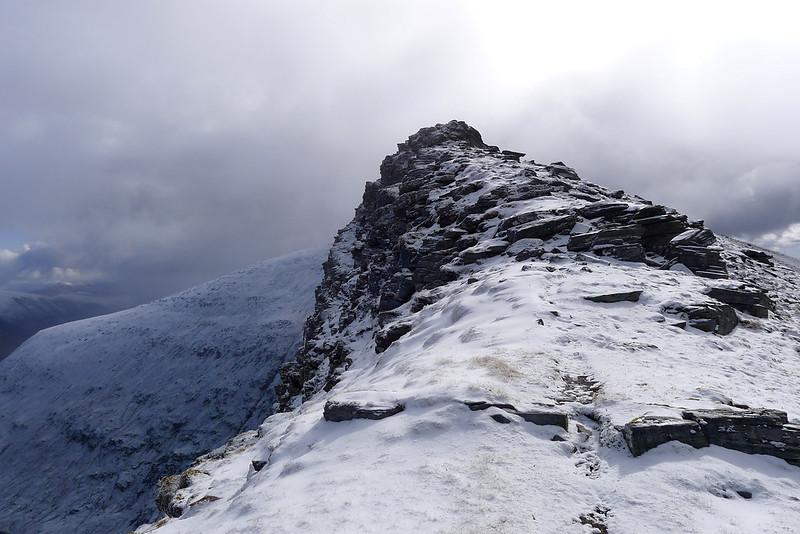 The summit ridge of Sgurr Choinnich