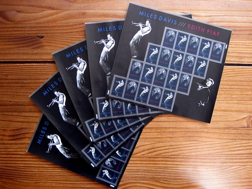 New Miles Davis/Edith Piaf stamp sheets