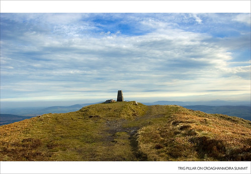 Trig Pillar on Croaghanmoira Summit