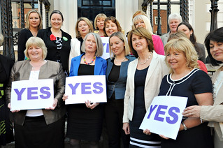 cross-party Women for YES event