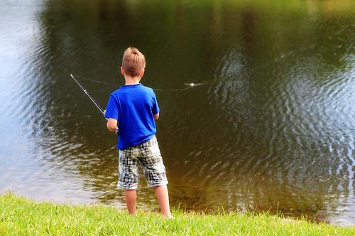 boy fishin'