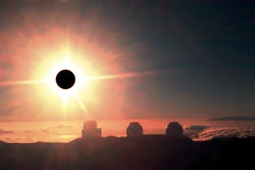 Solar Corona + Keck & Subaru