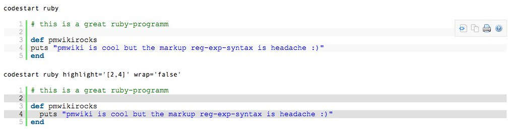 Syntaxlove recipe for pmwiki