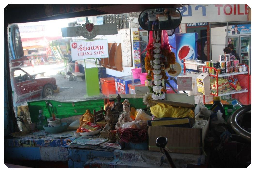 chiang rai bus inside