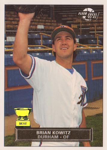 Baseball Card Bust Brian Kowitz 1992 93 Fleer Excel