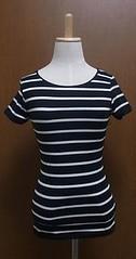 黒白ボーダー半袖Tシャツ
