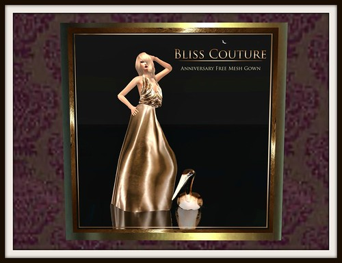 Bliss Couture - Aniversary Free Mesh Gown by Cherokeeh Asteria