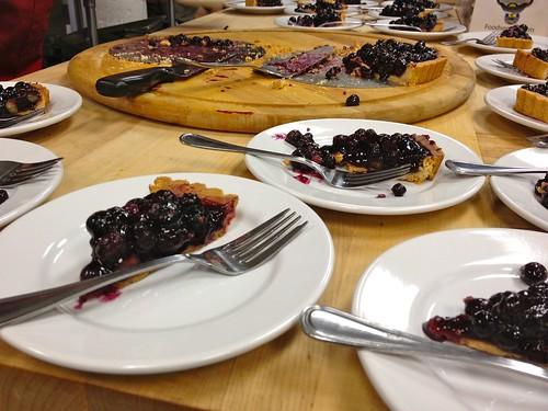 Fresh blueberry tart