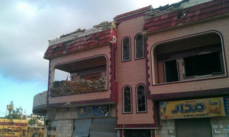 حمص الحولة صور دوار الحرية في الحولة بعد ان أخلاه الجيش الأسدي 1 6 2012 (1)