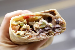 ranchero breakfast burrito @ downtown bakery