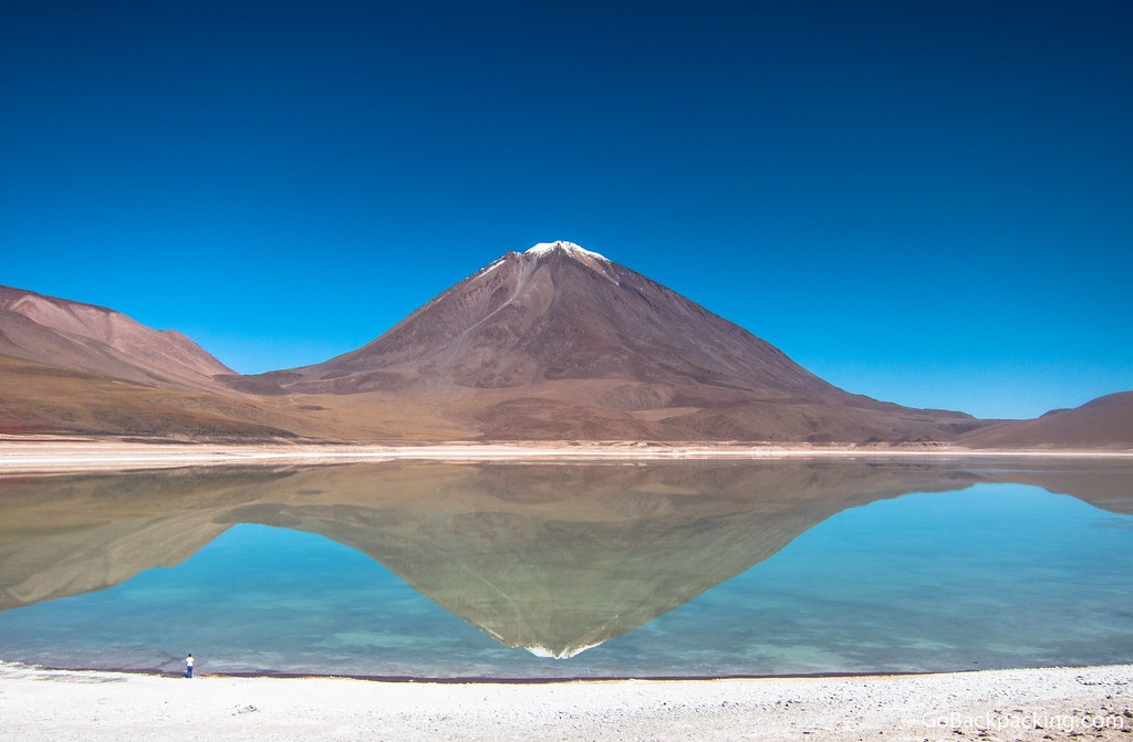 A perfect reflection at the aptly-named Laguna Verde