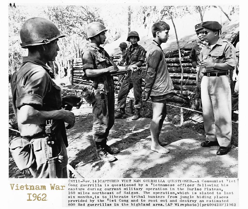 Vietnam War 1962 Capture Guerilla Questioned