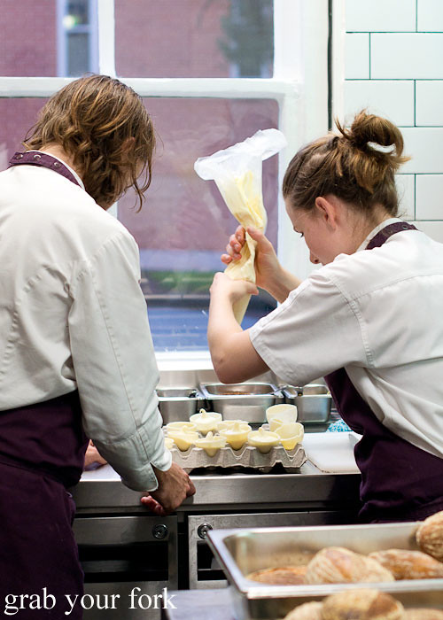 Plating dessert at Sixpenny Stanmore