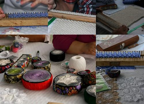 Telar azteca y encaje canario