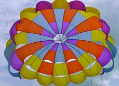 hot air balloon(0.0), wheel(0.0), vehicle(0.0), sailing(0.0), hot air ballooning(0.0), circle(0.0), balloon(0.0), toy(0.0), aircraft(1.0), symmetry(1.0), parachute(1.0), sports(1.0), parasailing(1.0), windsports(1.0),