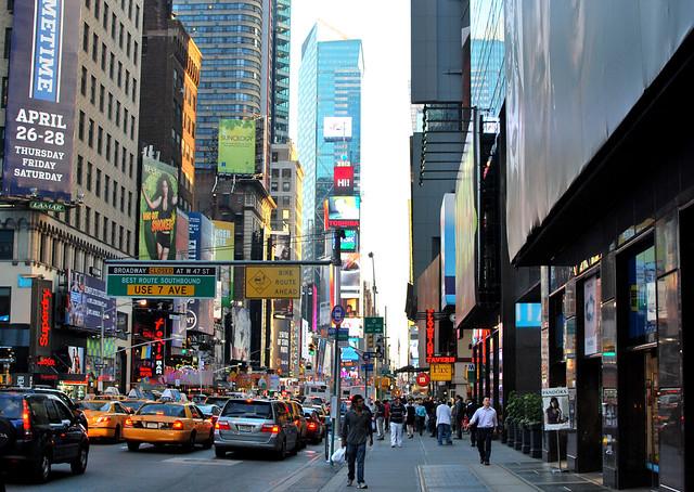 Типичный Нью-Йорк, такси, шум, быстро, все спешат - громко - все максимизировано, photo by Marta Lokhova