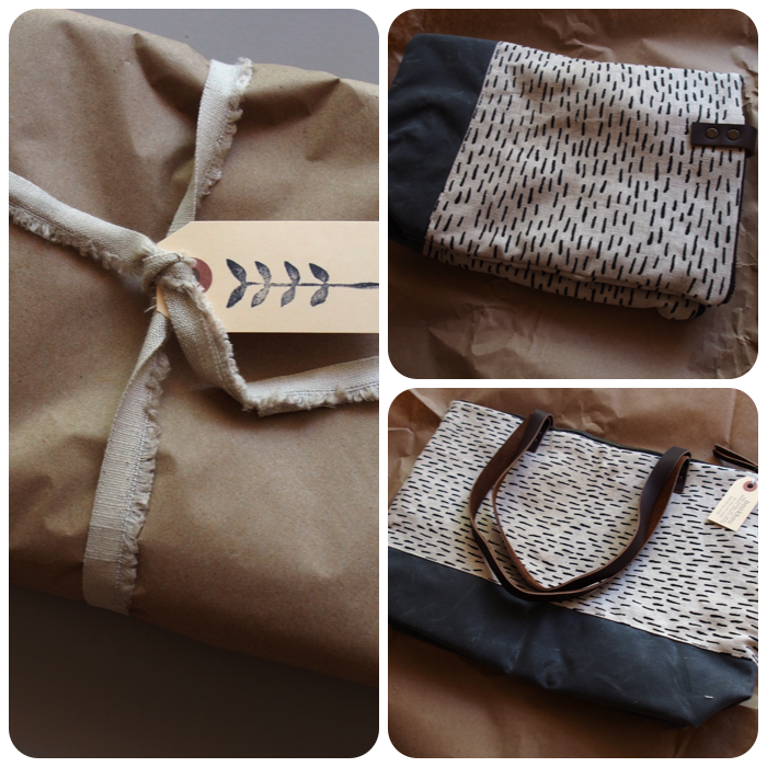 bookhou :: rain and waxed canvas tote