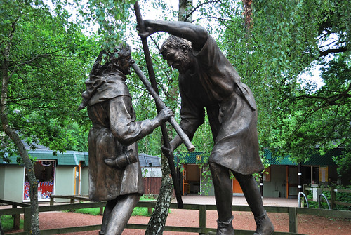 Robin Hood and Little John at Sherwood Forest