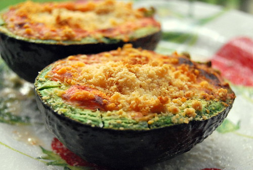 Broiled Avocado - Close-Up