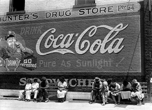 Coca-Cola Mural lateral wall of a Georgia drugstore 1939 by roitberg