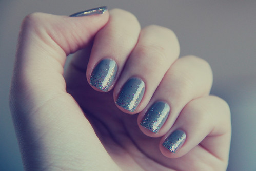 French Quarter for Your Toughts (OPI) + Glitter Misto (BU)