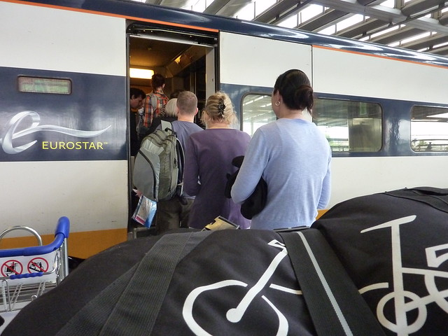 Taking your bike on Eurostar. Photo: Asha