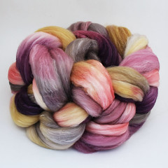 Dried Flowers on SW Merino/Merino/Silk