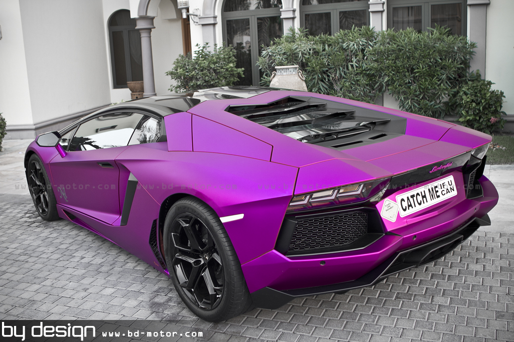 matt chrome purple aventador - Lambo Power