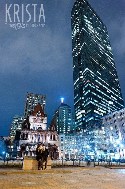 Winter Boston Engagement Session