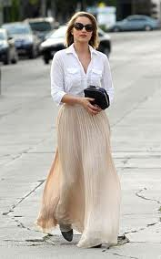 Dianna Agron Maxi Skirt Celebrity Style Women's Fashion