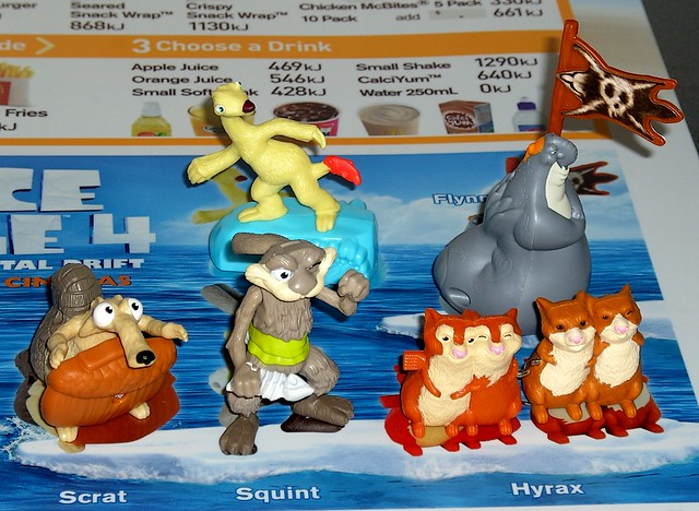 Ice age 4 continental drift mcdonald's happy meal toy australia july