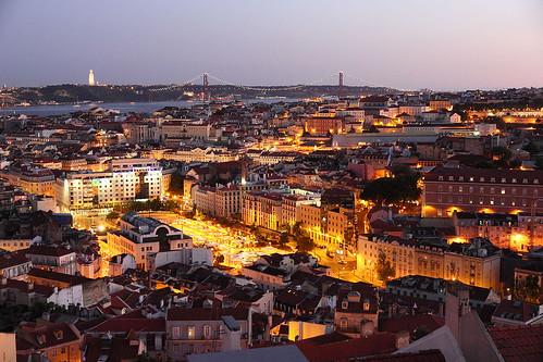 Lisbonne - vue du Miradouro de Senhora Do Monte