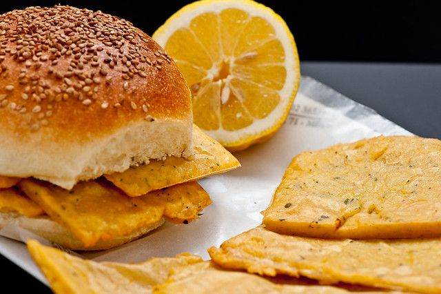 Chickpea Fritters Sandwich