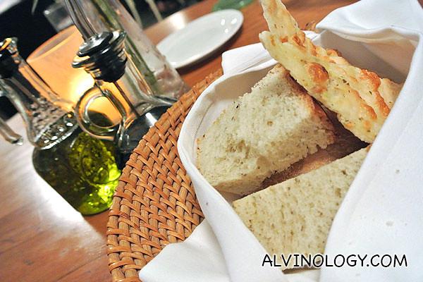 Basket of lovely fresh bread