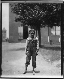 Johnnie Beam, one of the young workers in the Pelzer Mfg. Co. Been working there over a year. Appears to be under 12 years old, May 1912