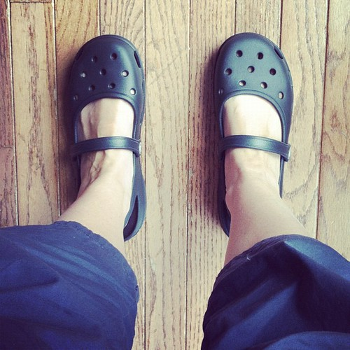 Lovin my new Mary Jane #crocs. Lovin the fact that they were $14 even more. Thanks #shoebuy