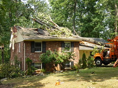 Wind storm damage in Lynchburg, Virginia - June 2012