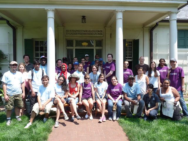 Goldman Sachs Community TeamWorks volunteers, Garden Apprentices, and BBG staff. Photo by Kathryn Littlefield.