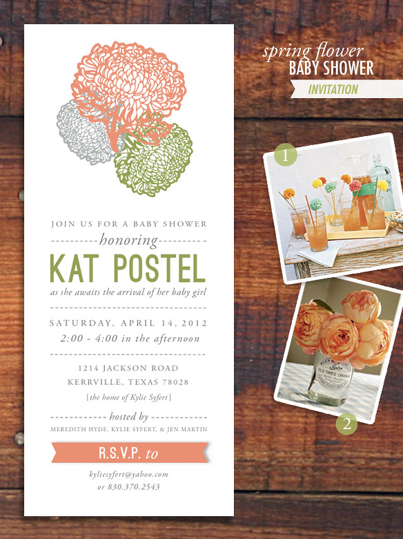 spring baby shower invite