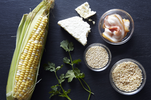 Summer Corn Salad with Toasted Grains Ingredients