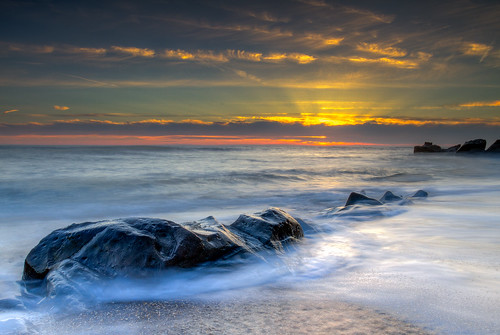 Smooth Sunset - Pebble Beach in Pescadero, California
