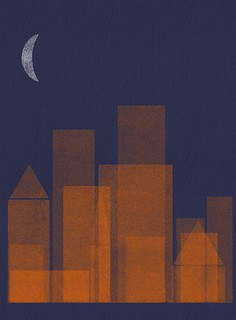 night city_orange/navy blue