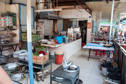 Banh Xeo kitchen & seating