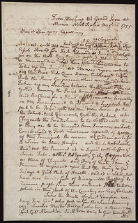 Main Series. [Letter from John Winslow to William Shirley Regarding the Expulsion of the Acadians, page 1] / Série principale. [Lettre de John Winslow à William Shirley concernant la Déportation des Acadiens, page 1]