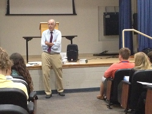 NSLC INTL Guest Speaker Mr Colman McCarthy, Director of the Center for Teaching Peace