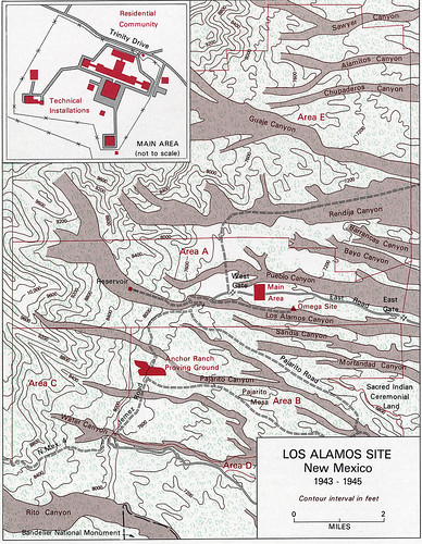 Los Alamos Site Map from Vincent Jones Manhattan The Army