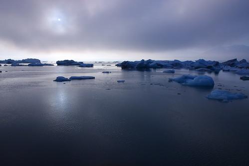 sunset summer ice june landscape iceland scenery afternoon cloudy lagoon iceberg jokulsarlon jökulsárlón icelandic glacial platinumheartaward