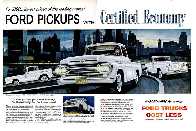 1960 Ford Pickups 2-page ad