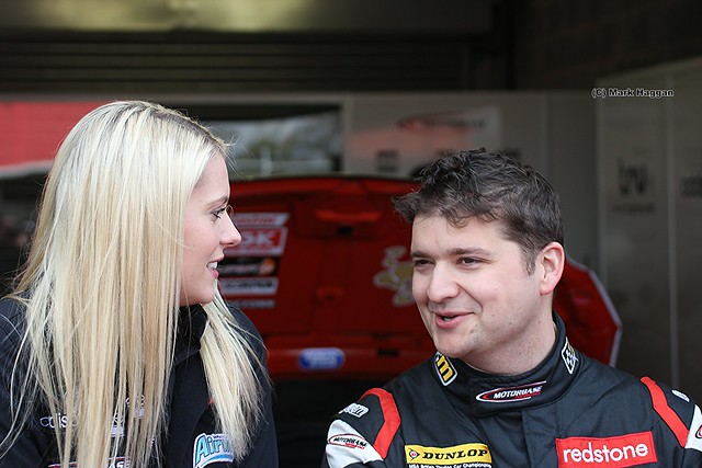 In the pit lane at the 2012 BTCC at Donington Park